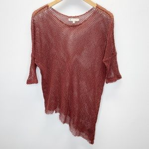 UO Truly Madly Deeply Fishnet Asymmetrical Top S